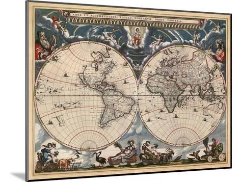 Nova et Accuratissima Totius Terrarum Orbis Tabula-Joan Blaeu-Mounted Art Print