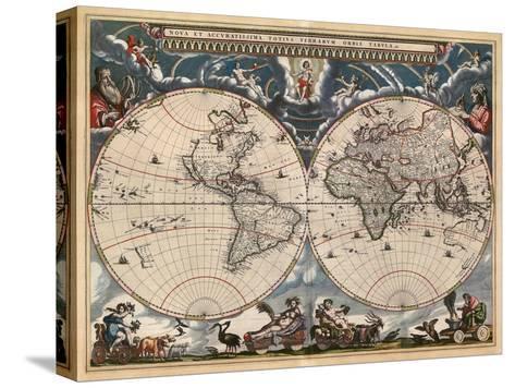 Nova et Accuratissima Totius Terrarum Orbis Tabula-Joan Blaeu-Stretched Canvas Print