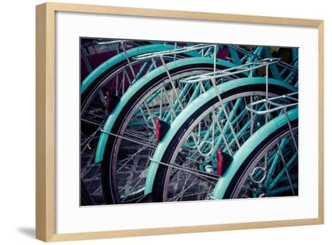 Bicycle Line Up 2-Jessica Reiss-Framed Art Print