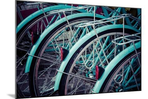 Bicycle Line Up 2-Jessica Reiss-Mounted Photographic Print