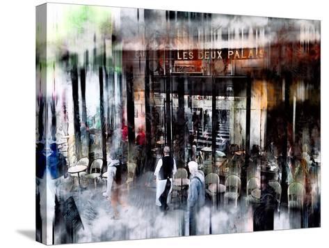 Busy Sidewalk-John Rivera-Stretched Canvas Print
