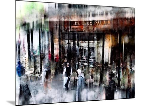Busy Sidewalk-John Rivera-Mounted Photographic Print
