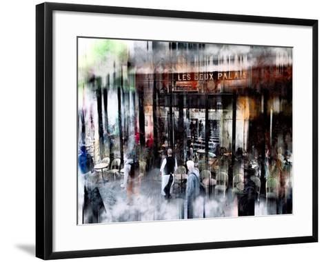 Busy Sidewalk-John Rivera-Framed Art Print