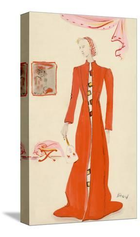Vogue - October 1935-Christian Berard-Stretched Canvas Print