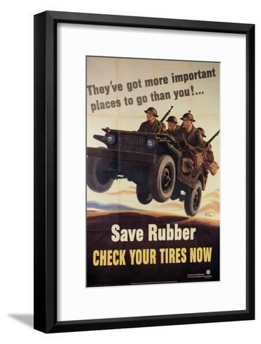 They?ve got more important places to go than you! Division of Information--Framed Art Print