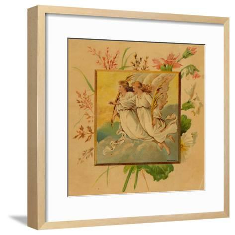 Center Warshaw Collection of Business Americana Series: Christmas Angels--Framed Art Print
