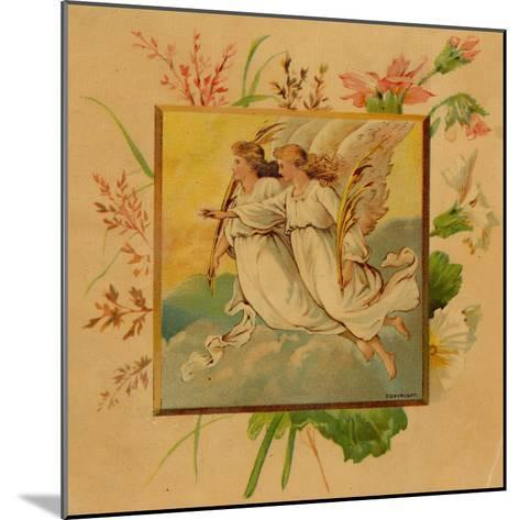 Center Warshaw Collection of Business Americana Series: Christmas Angels--Mounted Art Print