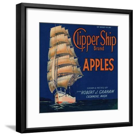 Warshaw Collection of Business Americana Food; Fruit Crate Labels, Captain Robert J. Graham--Framed Art Print