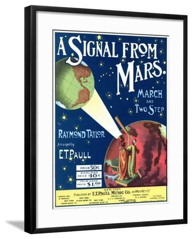 """""""A Signal from Mars"""" Sheet Music from the National Museum of American History--Framed Art Print"""
