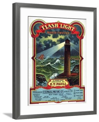 """Flash Light"" from the Sheet Music Collection at National Museum of American History--Framed Art Print"