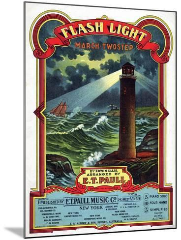 """Flash Light"" from the Sheet Music Collection at National Museum of American History--Mounted Art Print"