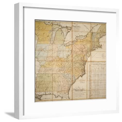 National Postal Museum: 1796 Postal Route Map--Framed Art Print