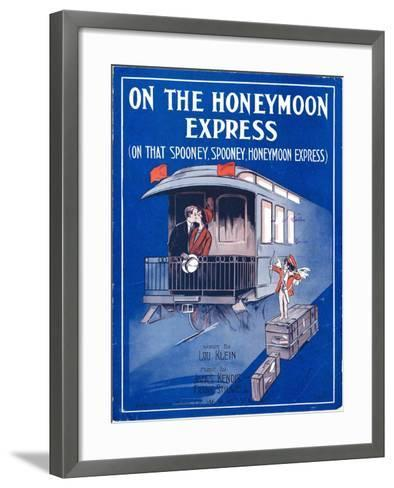 """Sheet Music Cover: """"On the Honeymoon Express"""" Music by J. Kendis and F. Stilwell, Words by L. Klein--Framed Art Print"""