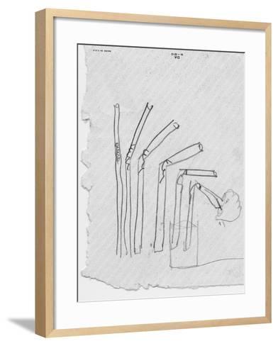 Sketch of Flexible Straw, circa late 1930s; Archives Center, NMAH--Framed Art Print