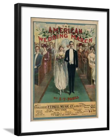 American Wedding March--Framed Art Print