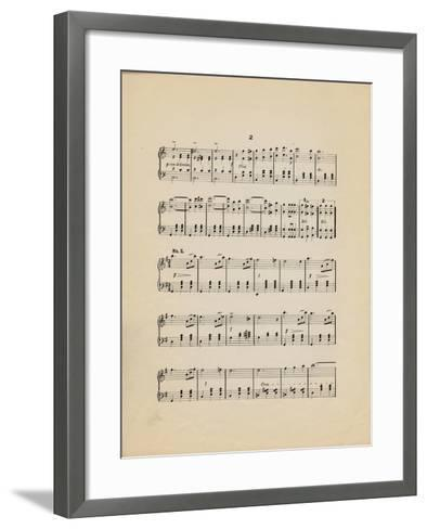 Collection of Illustrated American Sheet Music, Geography Sub Series--Framed Art Print