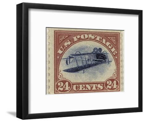 24-Cent U.S. Postage Stamp with an Inverted Jenny--Framed Art Print