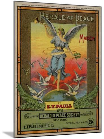Herald of Peace March, Sam DeVincent Collection, National Museum of American History--Mounted Art Print