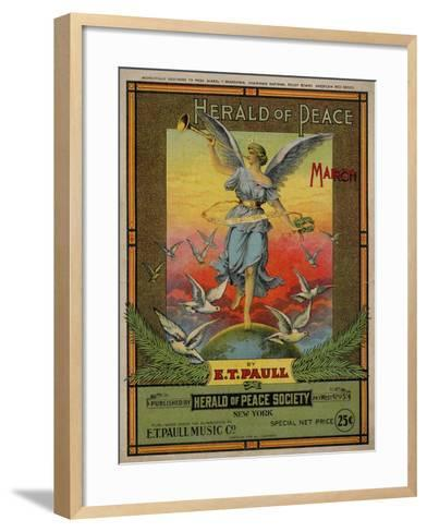 Herald of Peace March, Sam DeVincent Collection, National Museum of American History--Framed Art Print