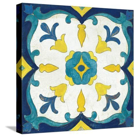 Andalucia Tiles A Blue and Yellow-Silvia Vassileva-Stretched Canvas Print