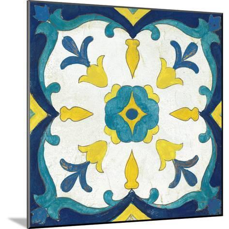 Andalucia Tiles A Blue and Yellow-Silvia Vassileva-Mounted Art Print