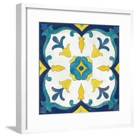 Andalucia Tiles A Blue and Yellow-Silvia Vassileva-Framed Art Print