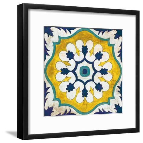 Andalucia Tiles C Blue and Yellow-Silvia Vassileva-Framed Art Print