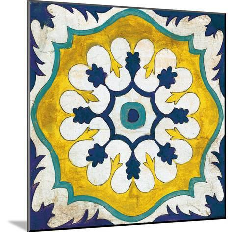 Andalucia Tiles C Blue and Yellow-Silvia Vassileva-Mounted Art Print