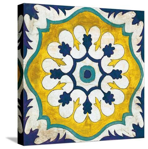 Andalucia Tiles C Blue and Yellow-Silvia Vassileva-Stretched Canvas Print