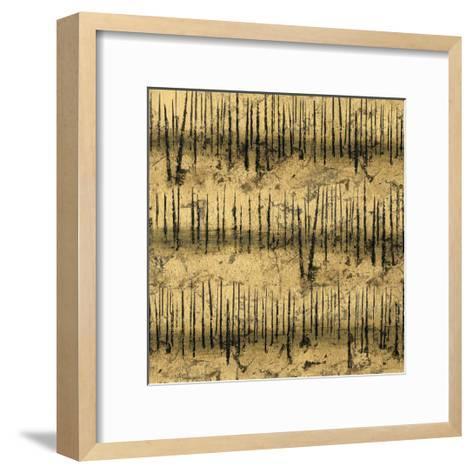 Golden Trees III Taupe Pattern II-James Wiens-Framed Art Print