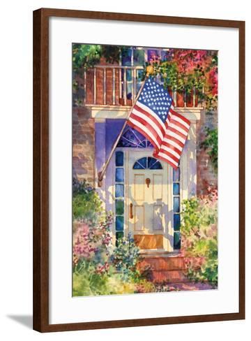 Patriotic Home-Kathleen Parr McKenna-Framed Art Print