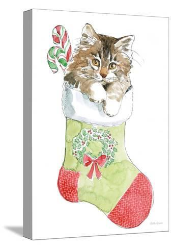 Christmas Kitties IV-Beth Grove-Stretched Canvas Print