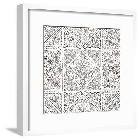 Sunny Bouquet Pattern IIIB-Beth Grove-Framed Art Print