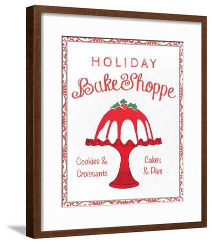 Chalkboard Christmas Signs II on White-Beth Grove-Framed Art Print