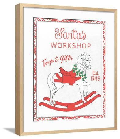 Chalkboard Christmas Signs I on White-Beth Grove-Framed Art Print