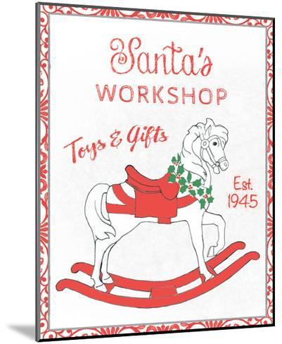 Chalkboard Christmas Signs I on White-Beth Grove-Mounted Art Print