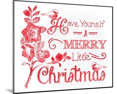 Chalkboard Christmas Sayings V on white-Beth Grove-Mounted Art Print