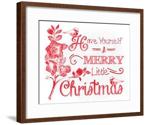Chalkboard Christmas Sayings V on white-Beth Grove-Framed Art Print