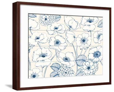 Pen and Ink Flowers I-Wild Apple Portfolio-Framed Art Print