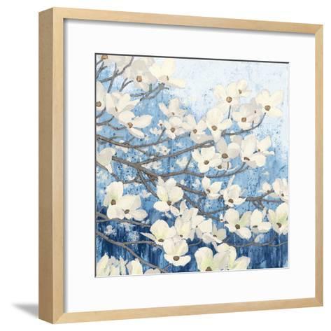 Dogwood Blossoms II Indigo-James Wiens-Framed Art Print