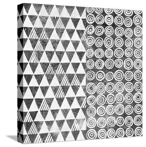 Maki Tile I BW-Kathrine Lovell-Stretched Canvas Print
