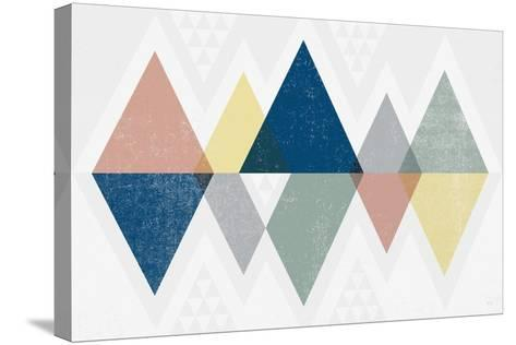 Mod Triangles II Soft-Michael Mullan-Stretched Canvas Print