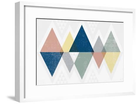Mod Triangles II Soft-Michael Mullan-Framed Art Print