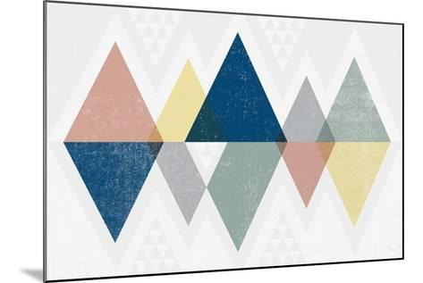 Mod Triangles II Soft-Michael Mullan-Mounted Art Print