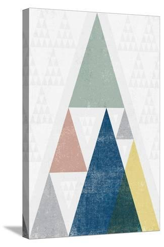 Mod Triangles III Soft-Michael Mullan-Stretched Canvas Print