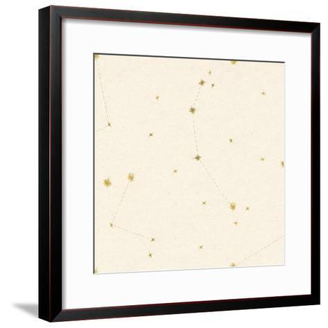 Night Sky Cream and Gold Pattern 05A-Sara Zieve Miller-Framed Art Print