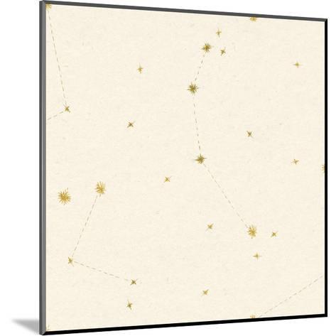 Night Sky Cream and Gold Pattern 05A-Sara Zieve Miller-Mounted Art Print