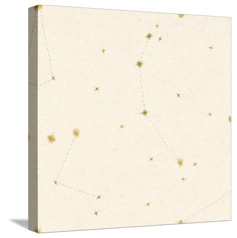 Night Sky Cream and Gold Pattern 05A-Sara Zieve Miller-Stretched Canvas Print