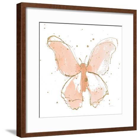 Gilded Butterflies II Blush-Shirley Novak-Framed Art Print