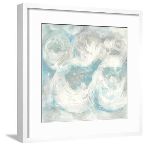 Pale Blue Circles IV-Chris Paschke-Framed Art Print